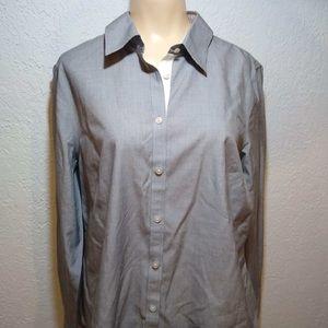 Talbots  Gray button  down Shirt
